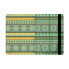 Bezold Effect Traditional Medium Dimensional Symmetrical Different Similar Shapes Triangle Green Yel Apple Ipad Mini Flip Case by Mariart