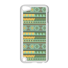 Bezold Effect Traditional Medium Dimensional Symmetrical Different Similar Shapes Triangle Green Yel Apple Ipod Touch 5 Case (white) by Mariart