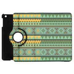 Bezold Effect Traditional Medium Dimensional Symmetrical Different Similar Shapes Triangle Green Yel Apple Ipad Mini Flip 360 Case by Mariart