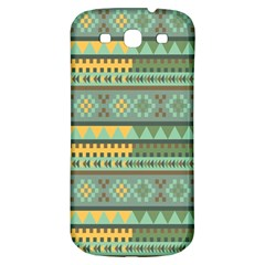 Bezold Effect Traditional Medium Dimensional Symmetrical Different Similar Shapes Triangle Green Yel Samsung Galaxy S3 S Iii Classic Hardshell Back Case