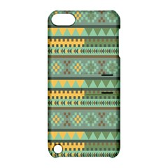 Bezold Effect Traditional Medium Dimensional Symmetrical Different Similar Shapes Triangle Green Yel Apple Ipod Touch 5 Hardshell Case With Stand