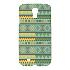 Bezold Effect Traditional Medium Dimensional Symmetrical Different Similar Shapes Triangle Green Yel Samsung Galaxy S4 I9500/i9505 Hardshell Case