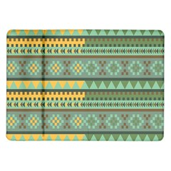 Bezold Effect Traditional Medium Dimensional Symmetrical Different Similar Shapes Triangle Green Yel Samsung Galaxy Tab 10 1  P7500 Flip Case by Mariart