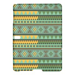 Bezold Effect Traditional Medium Dimensional Symmetrical Different Similar Shapes Triangle Green Yel Samsung Galaxy Tab S (10 5 ) Hardshell Case