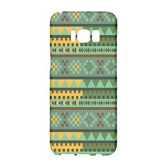 Bezold Effect Traditional Medium Dimensional Symmetrical Different Similar Shapes Triangle Green Yel Samsung Galaxy S8 Hardshell Case  by Mariart