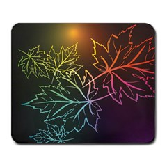 Beautiful Maple Leaf Neon Lights Leaves Marijuana Large Mousepads by Mariart