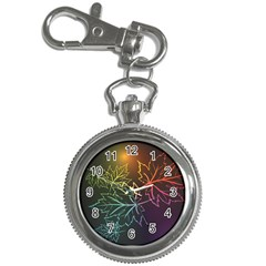Beautiful Maple Leaf Neon Lights Leaves Marijuana Key Chain Watches by Mariart