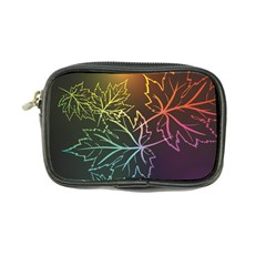 Beautiful Maple Leaf Neon Lights Leaves Marijuana Coin Purse by Mariart