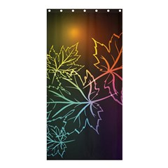 Beautiful Maple Leaf Neon Lights Leaves Marijuana Shower Curtain 36  X 72  (stall)  by Mariart