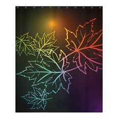 Beautiful Maple Leaf Neon Lights Leaves Marijuana Shower Curtain 60  X 72  (medium)  by Mariart