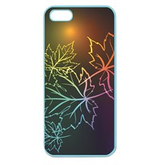 Beautiful Maple Leaf Neon Lights Leaves Marijuana Apple Seamless Iphone 5 Case (color) by Mariart