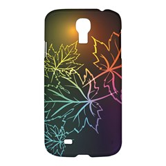 Beautiful Maple Leaf Neon Lights Leaves Marijuana Samsung Galaxy S4 I9500/i9505 Hardshell Case by Mariart