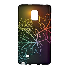 Beautiful Maple Leaf Neon Lights Leaves Marijuana Galaxy Note Edge by Mariart