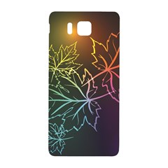 Beautiful Maple Leaf Neon Lights Leaves Marijuana Samsung Galaxy Alpha Hardshell Back Case by Mariart