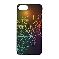 Beautiful Maple Leaf Neon Lights Leaves Marijuana Apple Iphone 7 Hardshell Case by Mariart