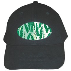 Banana Leaf Green Polka Dots Black Cap by Mariart