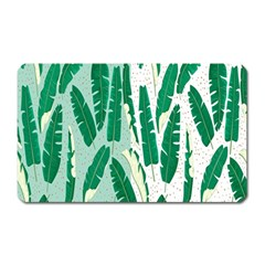 Banana Leaf Green Polka Dots Magnet (rectangular) by Mariart
