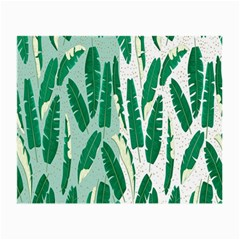 Banana Leaf Green Polka Dots Small Glasses Cloth (2-side) by Mariart