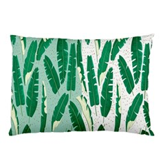 Banana Leaf Green Polka Dots Pillow Case by Mariart
