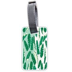 Banana Leaf Green Polka Dots Luggage Tags (two Sides) by Mariart