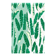 Banana Leaf Green Polka Dots Shower Curtain 48  X 72  (small)  by Mariart