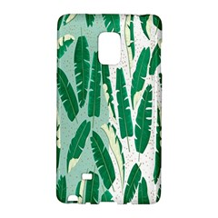 Banana Leaf Green Polka Dots Galaxy Note Edge by Mariart