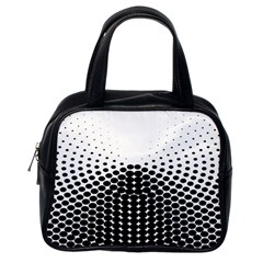 Black White Polkadots Line Polka Dots Classic Handbags (one Side) by Mariart