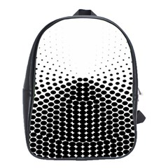 Black White Polkadots Line Polka Dots School Bags(large)