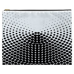 Black White Polkadots Line Polka Dots Cosmetic Bag (xxxl)  by Mariart