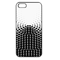 Black White Polkadots Line Polka Dots Apple Iphone 5 Seamless Case (black) by Mariart