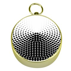 Black White Polkadots Line Polka Dots Gold Compasses by Mariart