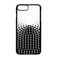 Black White Polkadots Line Polka Dots Apple Iphone 7 Plus Seamless Case (black) by Mariart