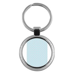 Blue Red Circle Polka Key Chains (round)  by Mariart
