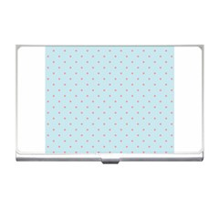 Blue Red Circle Polka Business Card Holders by Mariart