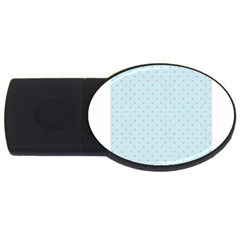 Blue Red Circle Polka Usb Flash Drive Oval (2 Gb)