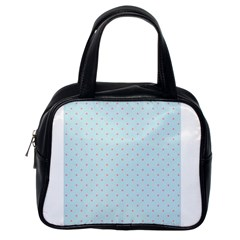 Blue Red Circle Polka Classic Handbags (one Side)