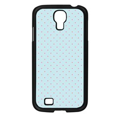Blue Red Circle Polka Samsung Galaxy S4 I9500/ I9505 Case (black) by Mariart