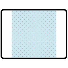 Blue Red Circle Polka Double Sided Fleece Blanket (large)  by Mariart