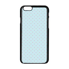 Blue Red Circle Polka Apple Iphone 6/6s Black Enamel Case by Mariart