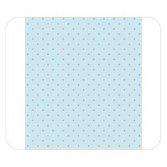Blue Red Circle Polka Double Sided Flano Blanket (small)