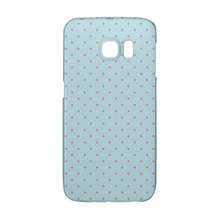 Blue Red Circle Polka Galaxy S6 Edge by Mariart