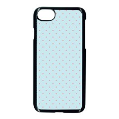 Blue Red Circle Polka Apple Iphone 7 Seamless Case (black) by Mariart