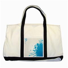 Blue Stain Spot Paint Two Tone Tote Bag by Mariart