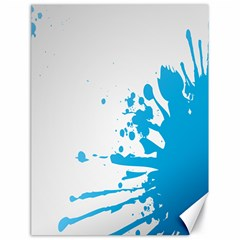 Blue Stain Spot Paint Canvas 18  X 24   by Mariart