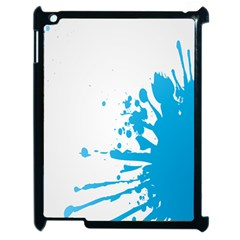 Blue Stain Spot Paint Apple Ipad 2 Case (black) by Mariart