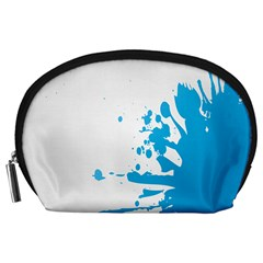 Blue Stain Spot Paint Accessory Pouches (large)  by Mariart