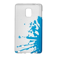 Blue Stain Spot Paint Galaxy Note Edge by Mariart