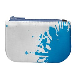Blue Stain Spot Paint Large Coin Purse by Mariart