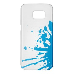 Blue Stain Spot Paint Samsung Galaxy S7 Edge Hardshell Case