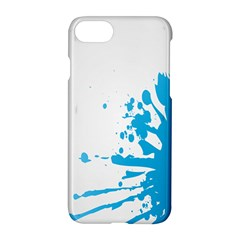 Blue Stain Spot Paint Apple Iphone 7 Hardshell Case by Mariart